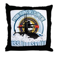 Pride Runs Deep [SSN 724] Throw Pillow