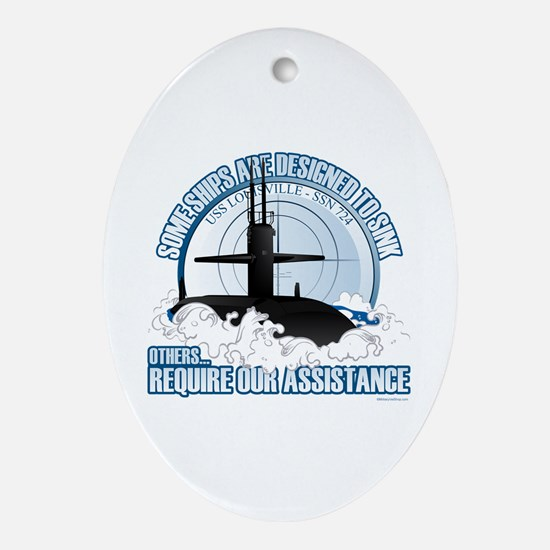 Designed to Sink Ornament (Oval)