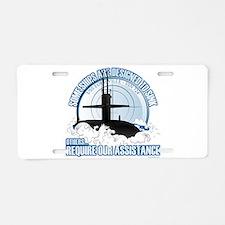 Designed to Sink Aluminum License Plate