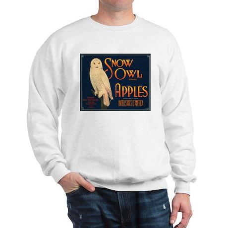 Snow Owl Apples Fruit Crate Sweatshirt