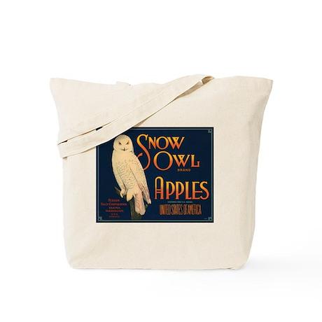 Snow Owl Apples Fruit Crate Tote Bag