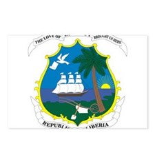 Liberia Coat Of Arms Postcards (Package of 8)