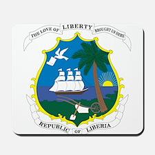 Liberia Coat Of Arms Mousepad