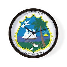 Liberia Coat Of Arms Wall Clock