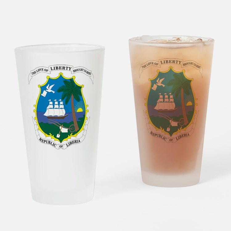 Liberia Coat Of Arms Drinking Glass