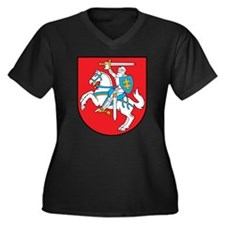 Lithuania Coat Of Arms Women's Plus Size V-Neck Da