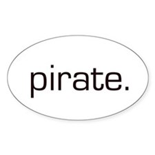 Pirate Oval Decal