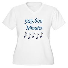 525,600 Minutes Women's Plus Size V-Neck T-Shirt