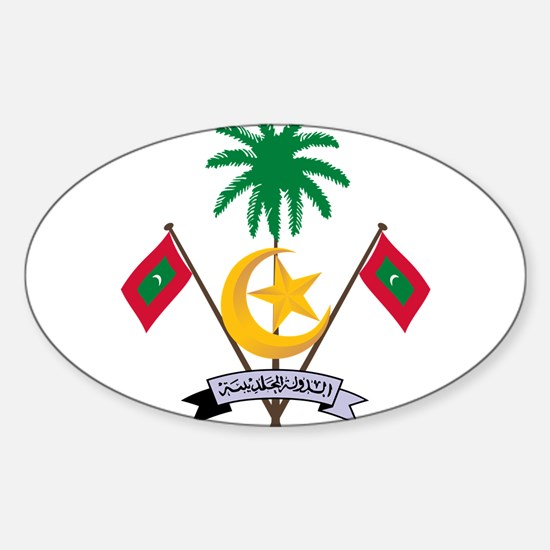 Maldives Coat Of Arms Sticker (Oval)