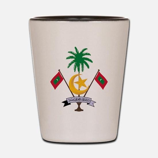 Maldives Coat Of Arms Shot Glass