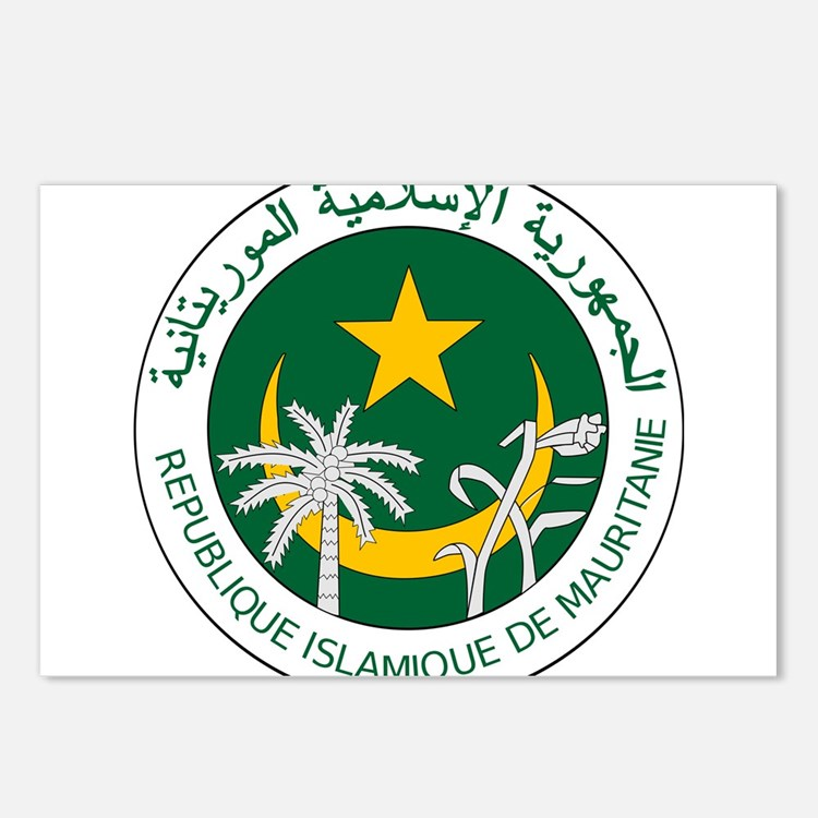 Mauritania Coat Of Arms Postcards (Package of 8)