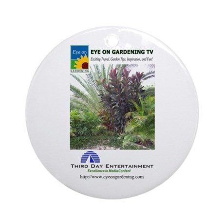 EOGTV Tropical Logos Ornament (Round)