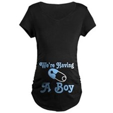 Having A Boy Pregnancy Announcement T-Shirt