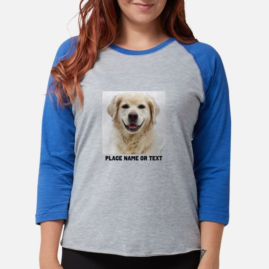 Dog Photo Customized Womens Baseball Tee