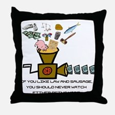 Law and Sausage Throw Pillow