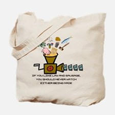 Law and Sausage Tote Bag