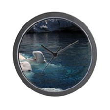 Beluga Whales Wall Clock