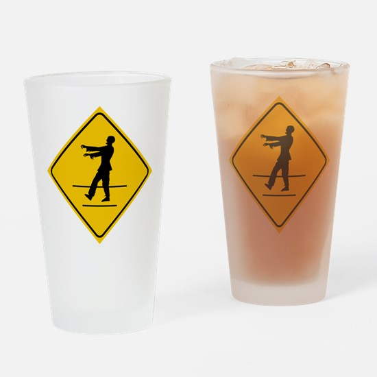 ZombieCrossing Drinking Glass