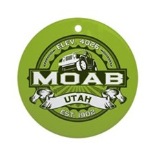 Moab Green Ornament (Round)