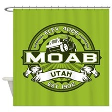 Moab Green Shower Curtain