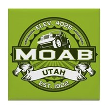 Moab Green Tile Coaster
