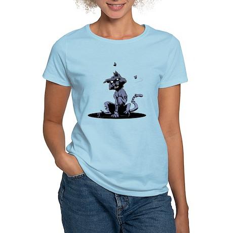Zombie Cat blue Women's Light T-Shirt