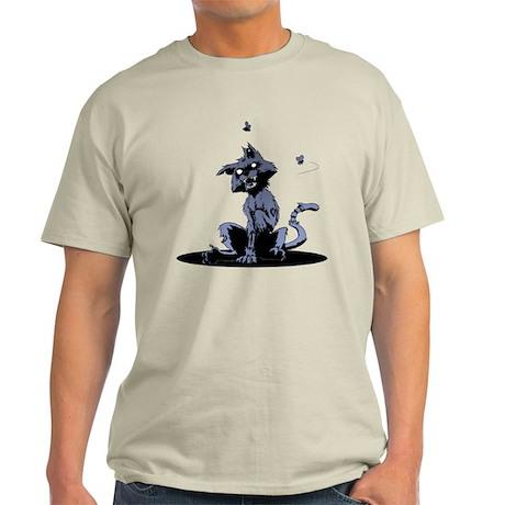 Zombie Cat blue Light T-Shirt