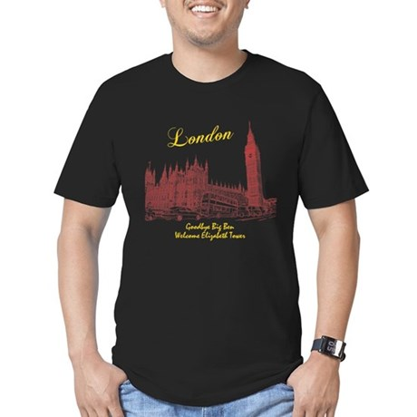 London Big Ben Men's Fitted T-Shirt (dark)