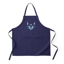 Blue Nerd Cat Apron (dark)