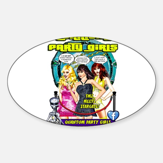 Quantum Party Girls 01 Sticker (Oval)