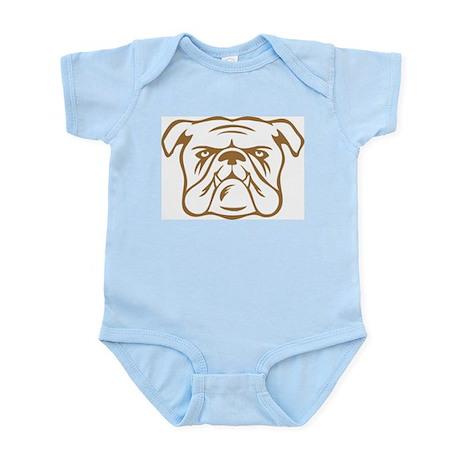Bulldog Baby onesie/creeper