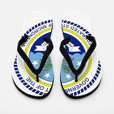 Micronesia Coat Of Arms Flip Flops