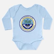 Micronesia Coat Of Arms Long Sleeve Infant Bodysui