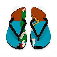 Montserrat Coat Of Arms Flip Flops