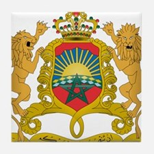 Morocco Coat Of Arms Tile Coaster