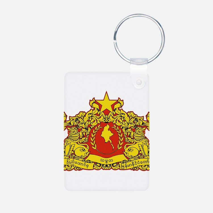 Myanmar Coat Of Arms Keychains