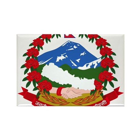 Nepal Coat Of Arms Rectangle Magnet (10 pack)