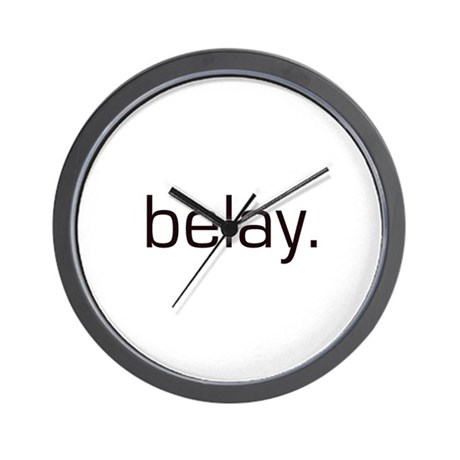 Belay Wall Clock