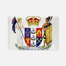 New Zealand Coat Of Arms Rectangle Magnet