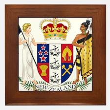 New Zealand Coat Of Arms Framed Tile