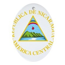 Nicaragua Coat Of Arms Ornament (Oval)