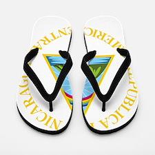 Nicaragua Coat Of Arms Flip Flops