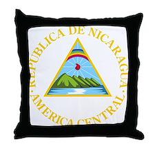 Nicaragua Coat Of Arms Throw Pillow