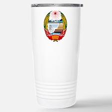 North Korea Coat Of Arms Travel Mug