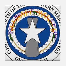 """Northern Mariana Islands Coat Of Arms"" Tile Coast"