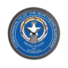 """Northern Mariana Islands Coat Of Arms"" Wall Clock"