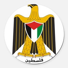 Palestine Coat Of Arms Round Car Magnet