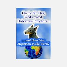 8th Day -RecMag -Doberman,BlkRstCr Magnets