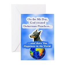 8th Day -Shirt -Doberman,BtCr Greeting Cards