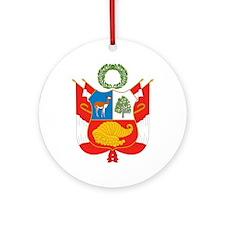 Peru Coat Of Arms Ornament (Round)